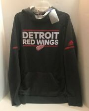 Detroit Red Wings Adidas NHL Squad Pullover Hoody SZ L NWT $100