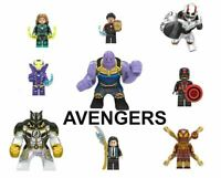 Avengers Minifigures Marvel Endgame Iron Man Thor Hulk Stark Thanos Spider Man