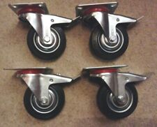 More details for 4 x  3 inch locking castor wheels sold as one lot. weight limit 70kg per wheel