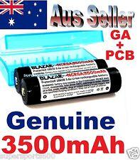 2x BLAZAR PROTECTED Panasonic Sanyo NCR18650GA 3500mAh Lithium Batteries NIPPLE