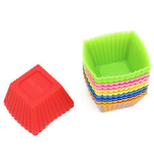12-Pack Silicone Mini Square Reusable Cupcake and Muffin Baking Cups
