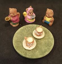 "Miniature Tea Set Dollhouse Three Bears Theme 10 Pieces,1.75"" Kitchen Food Nib"