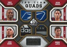 2009-10 Vince Carter Brook Lopez Devin Harris Boone Tag Team Quads PATCH #8/10