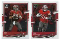 Tom Brady & Rob Gronkowski 2020 Donruss Optic Tampa Bay Buccaneers Base Card Lot