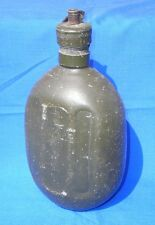 Hungarian Army Aluminium Green WATER CANTEEN Flask BOTTLE 1950's