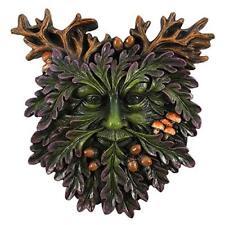 Green Man Small Face Wall Plaque Acorns & Toadstools 15 X 13.5cm Home Decor Gift