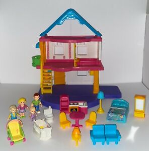 Fisher Price My First Doll House LOADED Stroll with Grandma Parents Room & MORE!