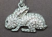 Rabbit Key Chain Made With Clear Swarovski Crystals