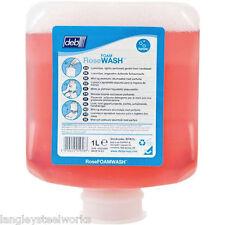 Pink Rose Foaming Hand Wash Soap 1 litre Cartridge For Deb Dispenser Room Toilet