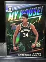 2019-20 Panini Optic My House Giannis Antetokounmpo Silver Holo Prizm Insert SP