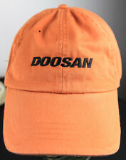 DOOSAN ORANGE HUNTING HAT INFRACORE DAEWOO FORKLIFT NASCAR JOE GIBBS RACING CAP