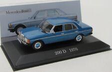 MERCEDES Benz 200 D/w123 (1976) BLU MET./IXO 1:43