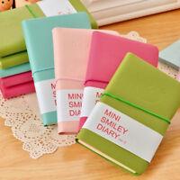 2PCS Mini Smiley Diary Notebook Memo Book Note Pads Stationery Pocketbook Random