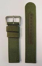 Original SEIKO 22mm SNZG09 / SNZG09J1 Green Nylon Cloth Watch Band Strap w/ Pins