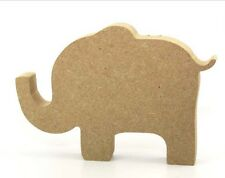 Free Standing Wooden 18mm MDF Cute Elephant Shape 15cm Wide from Trunk to Tail