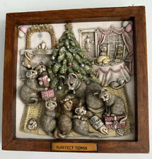 Harmony Kingdom Purrfect Tidings Picturesque Tile Figurine Cats Christmas