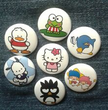 """1"""" pinback buttons inspired  by """"Sanrio"""" hello kitty"""