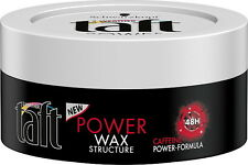 NEW Taft Power Black Wax Caffeine-Power Formula 48h Power & Energy 75ml