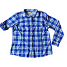 Duluth Trading Co Blue Plaid DuluthFlex Sidewinder Long Sleeve Shirt Size XL