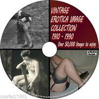 50000+ IMAGE VINTAGE EROTIC ART/FASHION BURLESQUE COLLECTION PCDVD 1900/1980 NEW