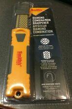 Smith's Dcs4 4-Inch Fine & Coarse Diamond Combo Sharpening Stones Orange