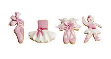 4 tagliapasta taglia biscotto Decora Ballerine Scarpe Vestito SPEDIZIONI VELOCI