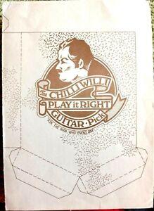 Chilli Willi - Barney Bubbles designed Christmas Card 1974.  Signed.