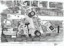 BriSCA F1 A4 Drawing PRINT; Lund & Wainman Impact