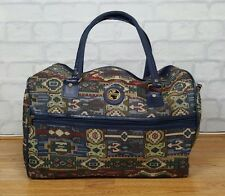 VINTAGE RETRO FLORAL PAISLEY TAPESTRY LUGGAGE TRAVEL OVERNIGHT HOLDALL BAG