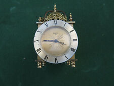 Vintage Swiza 8 Day Lantern Clock / Swiza Alarm Clock .Swiss made Swiza Clock