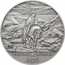 10th. Crusade- Peter I - The Last Crusader Silver Coin 5$ Cook Islands 2017