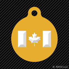 Canadian Flag Keychain Round with Tab dog engraved many colors Canada Maple Leaf