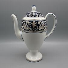 Wedgwood Bone China FLORENTINE COBALT W1956 Coffee Pot w/ Lid