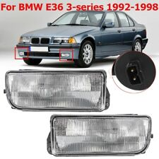 Pair Clear Lens Front Bumper Fog Light Lamps Fit For BMW E36 3 Series 1992-1998