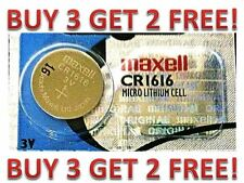 CR 1616 MAXELL LITHIUM BATTERIES (1 piece) 3V watch New BUY 3 GET 2 FREE!!