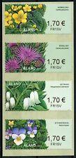 More details for aland wild flowers stamps 2020 mnh franking labels nature flora 4v s/a strip