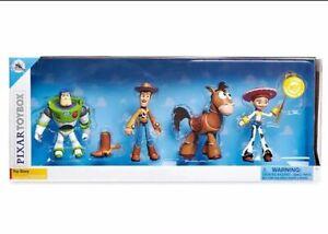 Disney Pixar Toy Story Buzz Lightyear Woody Jessie Bullseye - Toybox Set of 4