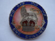 BEAUTIFUL1906 EDWARD VII ONE SHILLING 6 COLOUR HAND ENAMELLED COIN