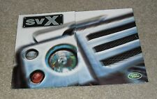 Land Rover SVX Preview / Concept Brochure 1999