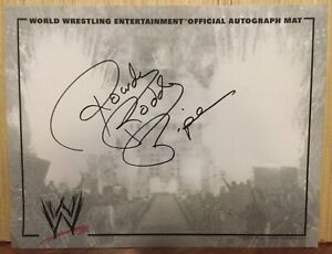ROWDY RODDY PIPER SIGNED WWE OFFICIAL AUTOGRAPH MAT WWF WRESTLING