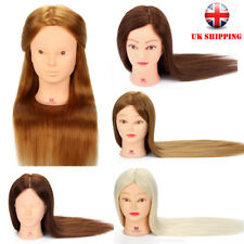 100% Real Human Hair Training head Hairdressing Styling Mannequin Doll + Clamp
