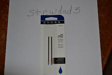 Cross Mini Ballpoint Pen Refill, Medium Blue, Fits Tech 3,  2 per card (8518-6)