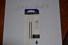 Cross Mini Ballpoint Pen Refill, Medium Blue, Fits Tech 3,  2 per card (8518-6)