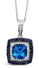 Le Vian® Pendant- Blue Topaz, Sapphire, Vanilla Diamonds® - 14K Vanilla Gold®