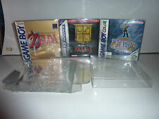 17 nintendo game boy box protectors .4 thick high quality plastic case