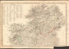 1838 ANTIQUE MAP- SDUK - IRELAND, NORTH SHEET WITH TABLE OF ROUND TOWERS