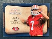 2011 Topps Five Star Colin Kaepernick Autograph booklet quad patch RC #'d 28/35