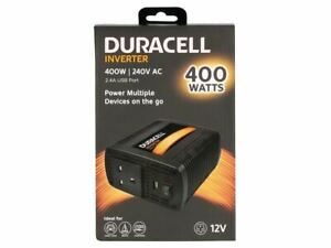 Duracell 400W Single UK Socket Inverter power adapter/inverter DRINV40-UK