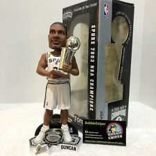 "TIM DUNCAN San Antonio Spurs 2003 NBA Championship ""Ring/Trophy"" Bobble Head*"