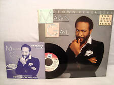 "MOTOWN REMEMBERS MARVIN GAYE SEALED LP+PROMO 7"" 45 RPM"